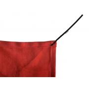 Tela de Sombreamento 90% Vermelha com Esticadores - Largura: 2,8 Metros