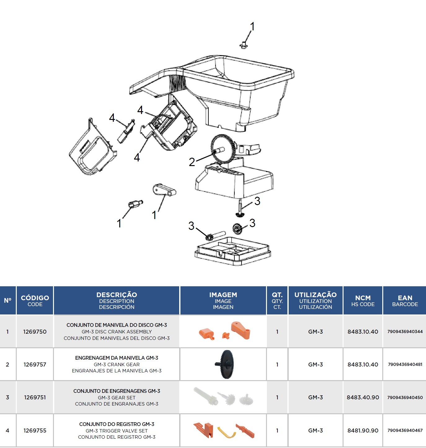 Engrenagem Da Manivela Espalhador Gm-3 1269757 Jacto