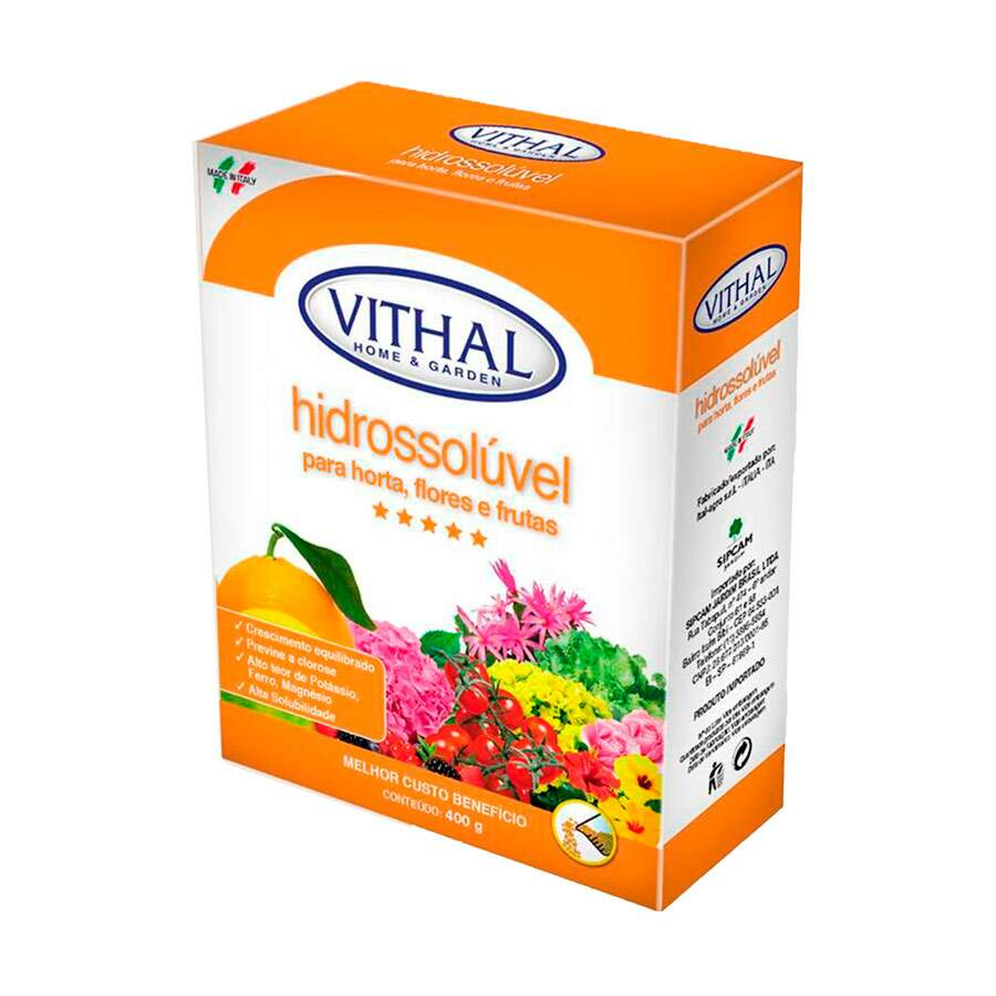 Fertilizante Vithal Hidrossolúvel para Horta 400g