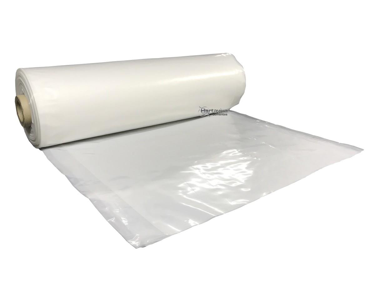 Filme Plástico para Estufa Agrícola 10m x 10m - 150 micras