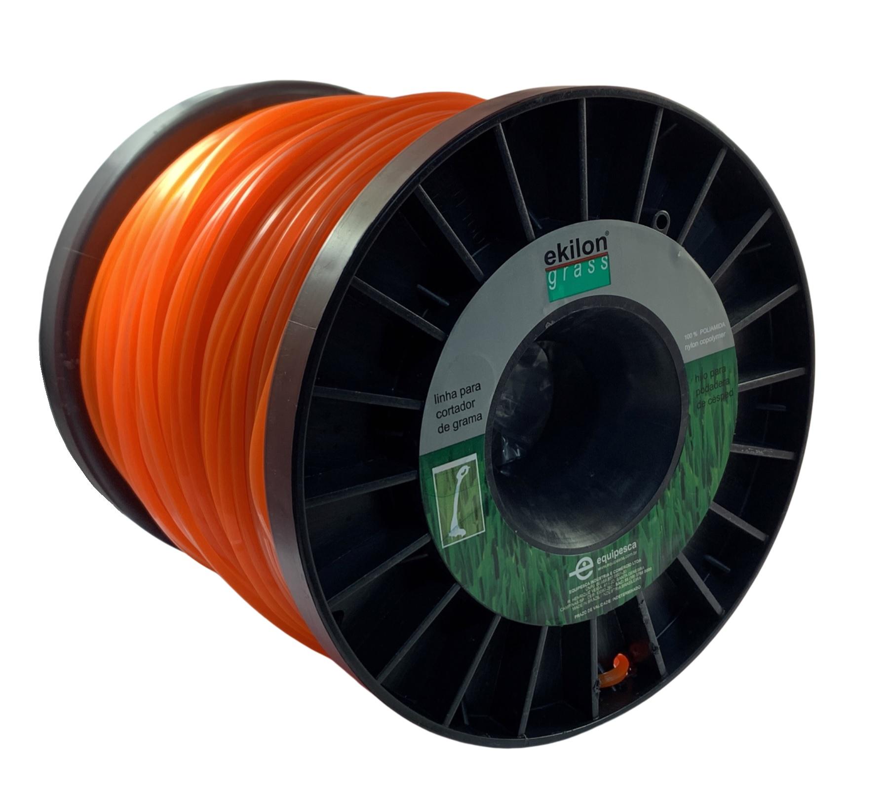 Fio De Nylon Quadrado 3mm Ekilon® Grass - 1 Kilo