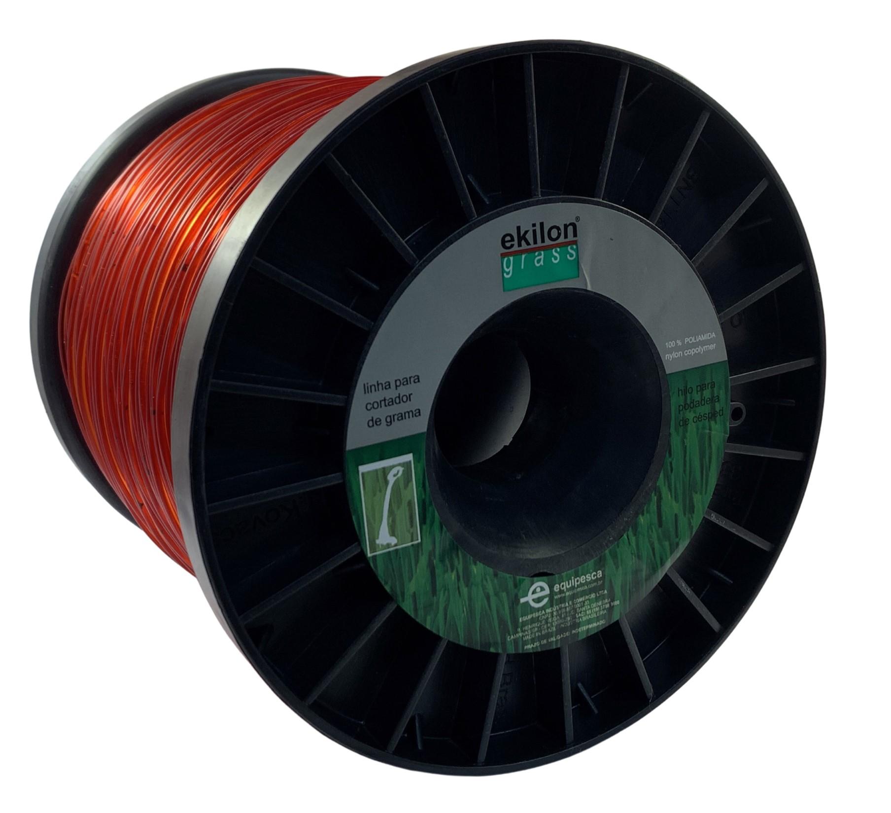 Fio De Nylon Vermelho 2mm Ekilon® Grass - 1 Kilo