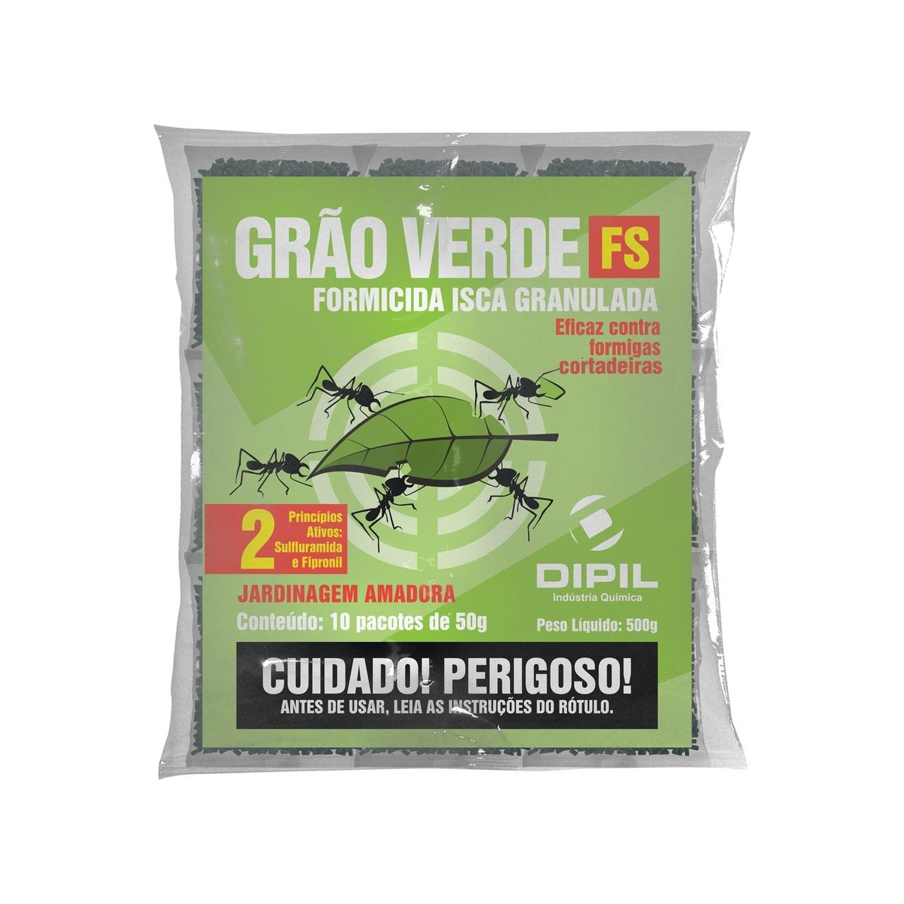 Isca Formicida Granulada Grão Verde FS Dipil