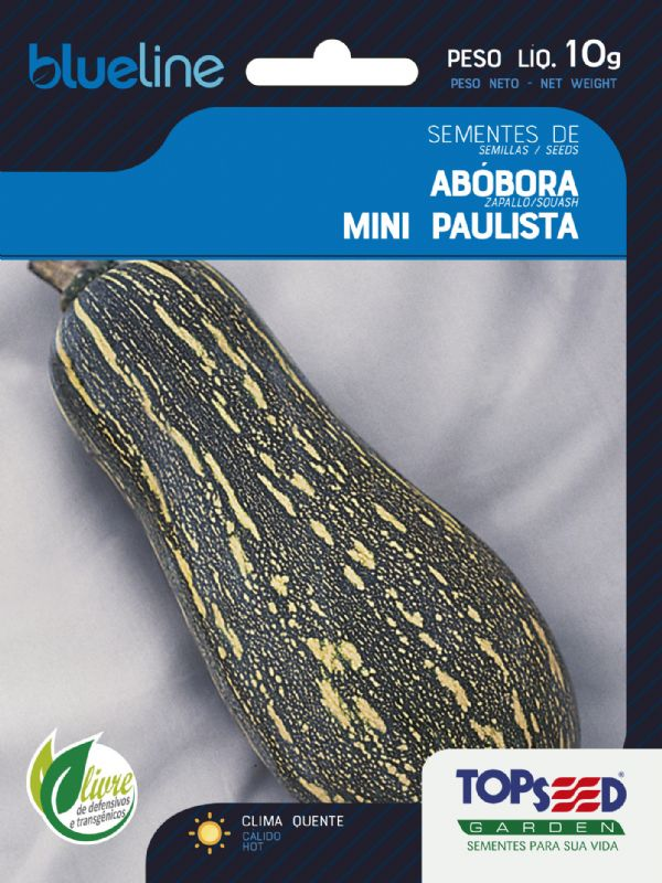 Sementes de Abóbora Mini Paulista - 10 Gramas