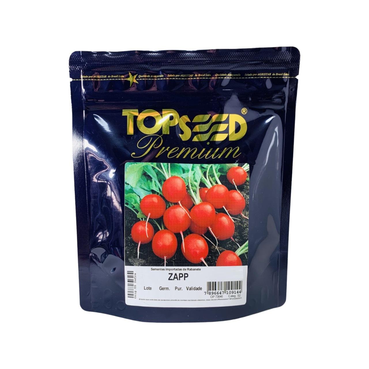 Sementes De Rabanete Zapp Topseed Premium