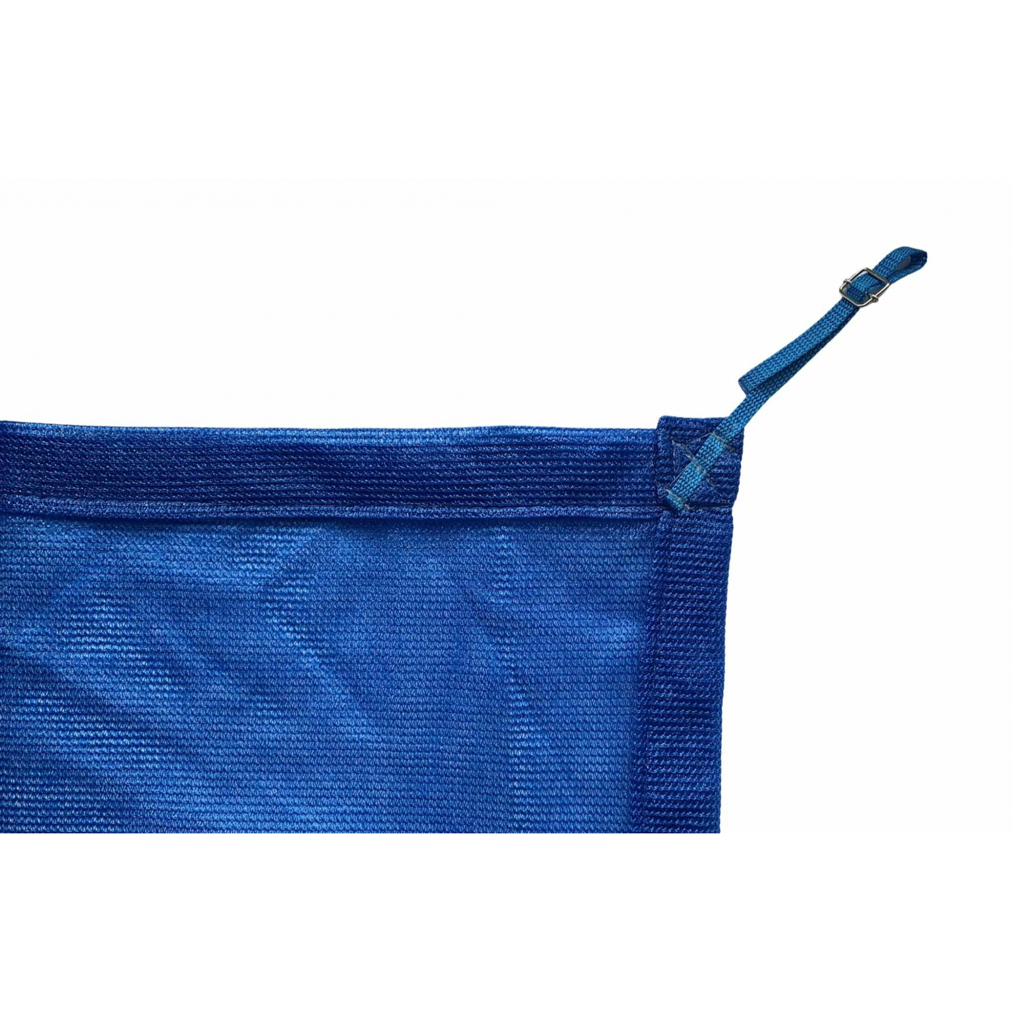 Tela de Sombreamento 80% Azul com Esticadores - Largura: 1 Metro