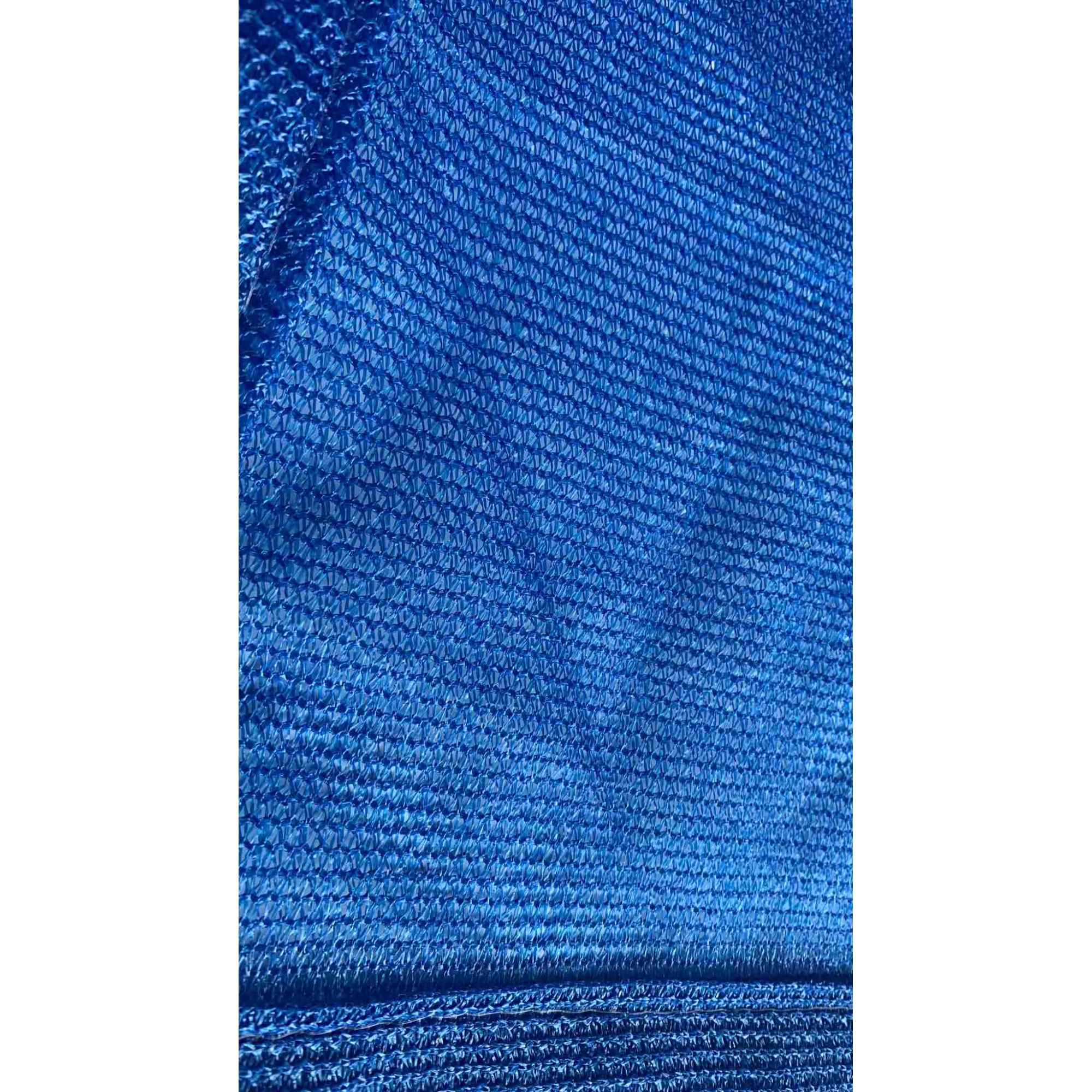 Tela de Sombreamento 80% Azul com Esticadores - Largura: 2,5 Metros