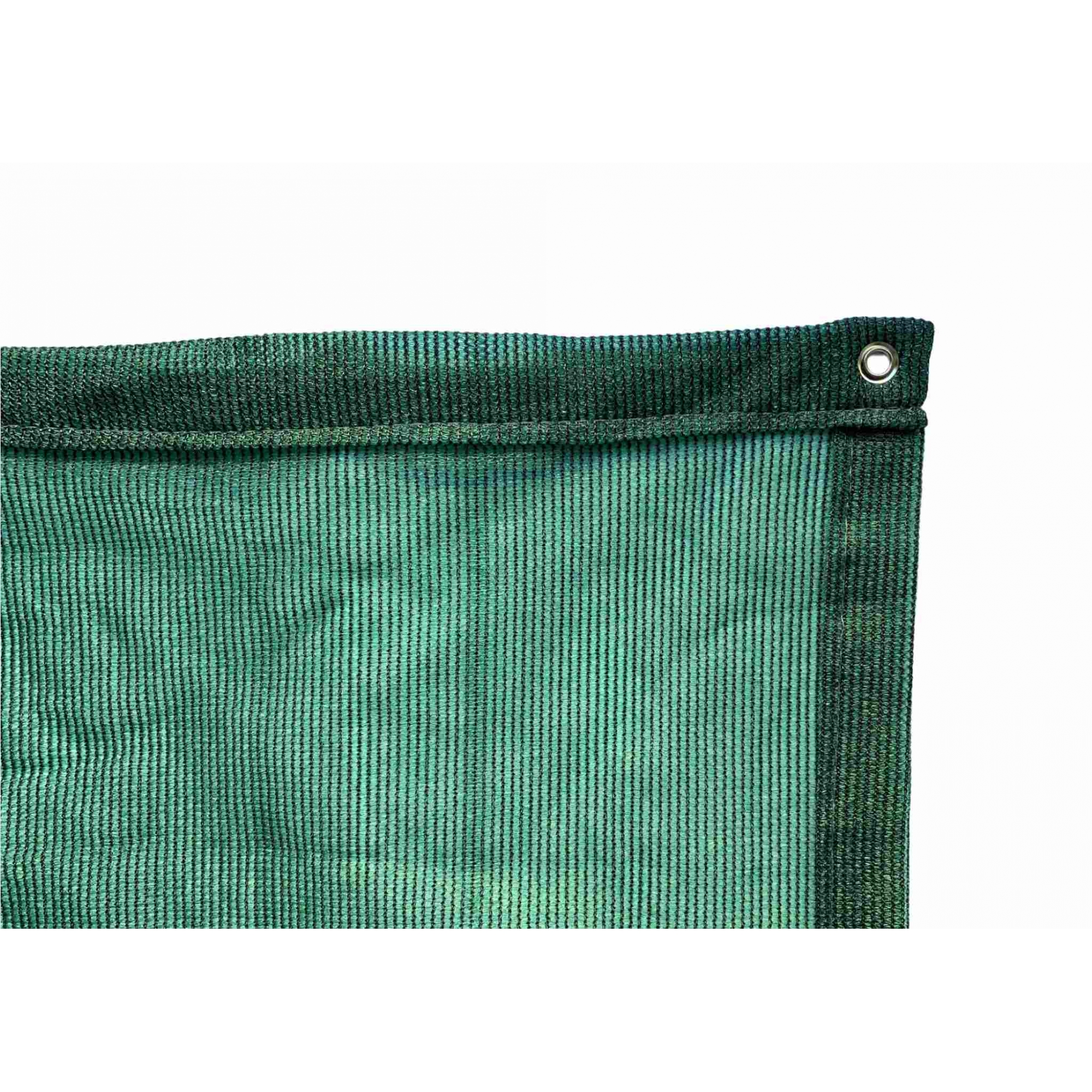 Tela de Sombreamento 80% Verde com Bainha e Ilhós - Largura: 1 Metro