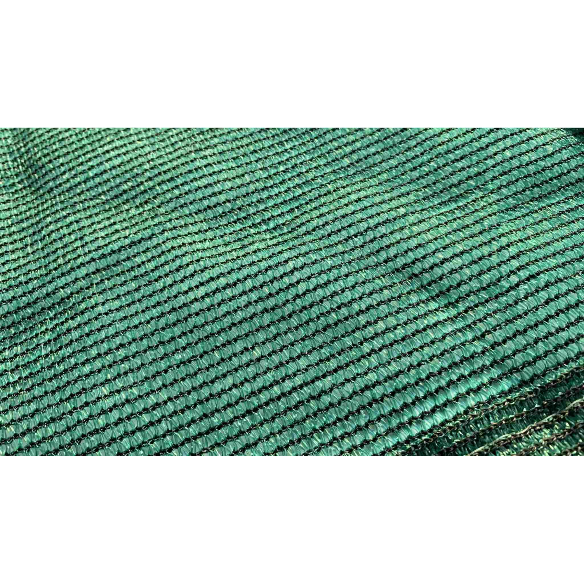 Tela de Sombreamento 80% Verde com Bainha e Ilhós - Largura: 3,5 Metros