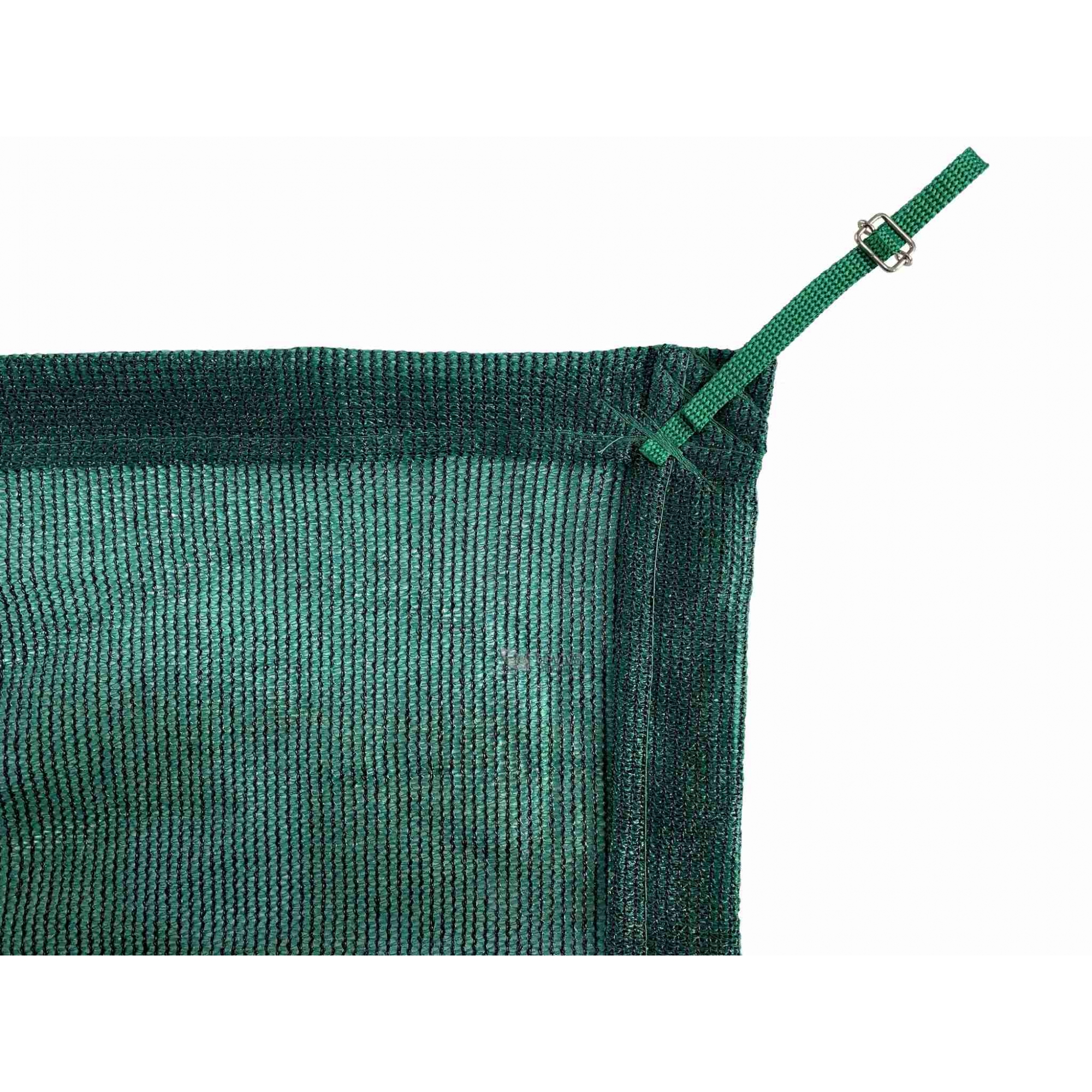 Tela de Sombreamento 80% Verde com Esticadores - Largura: 1,5 Metros