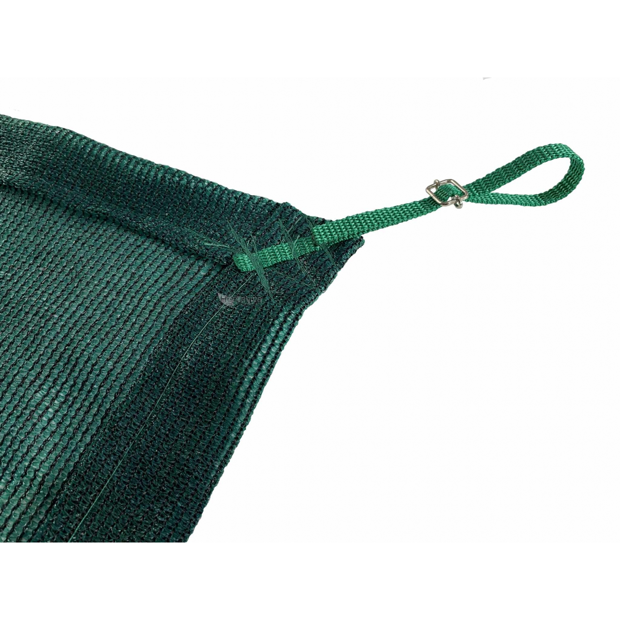 Tela de Sombreamento 80% Verde com Esticadores - Largura: 1 Metro