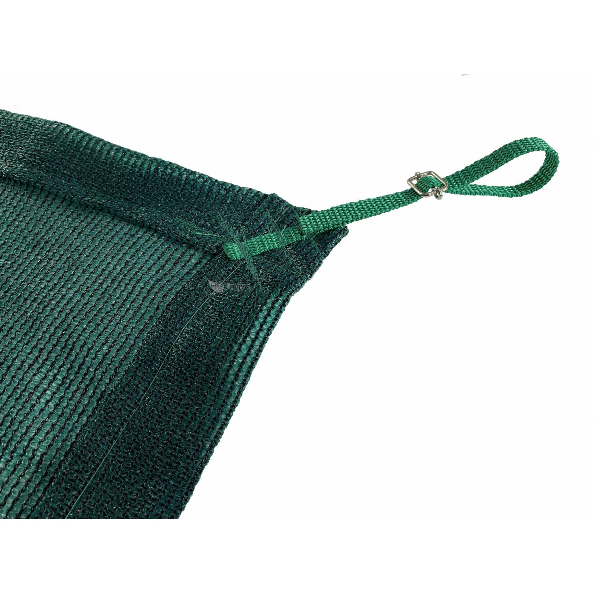 Tela de Sombreamento 80% Verde com Esticadores - Largura: 3,5 Metros