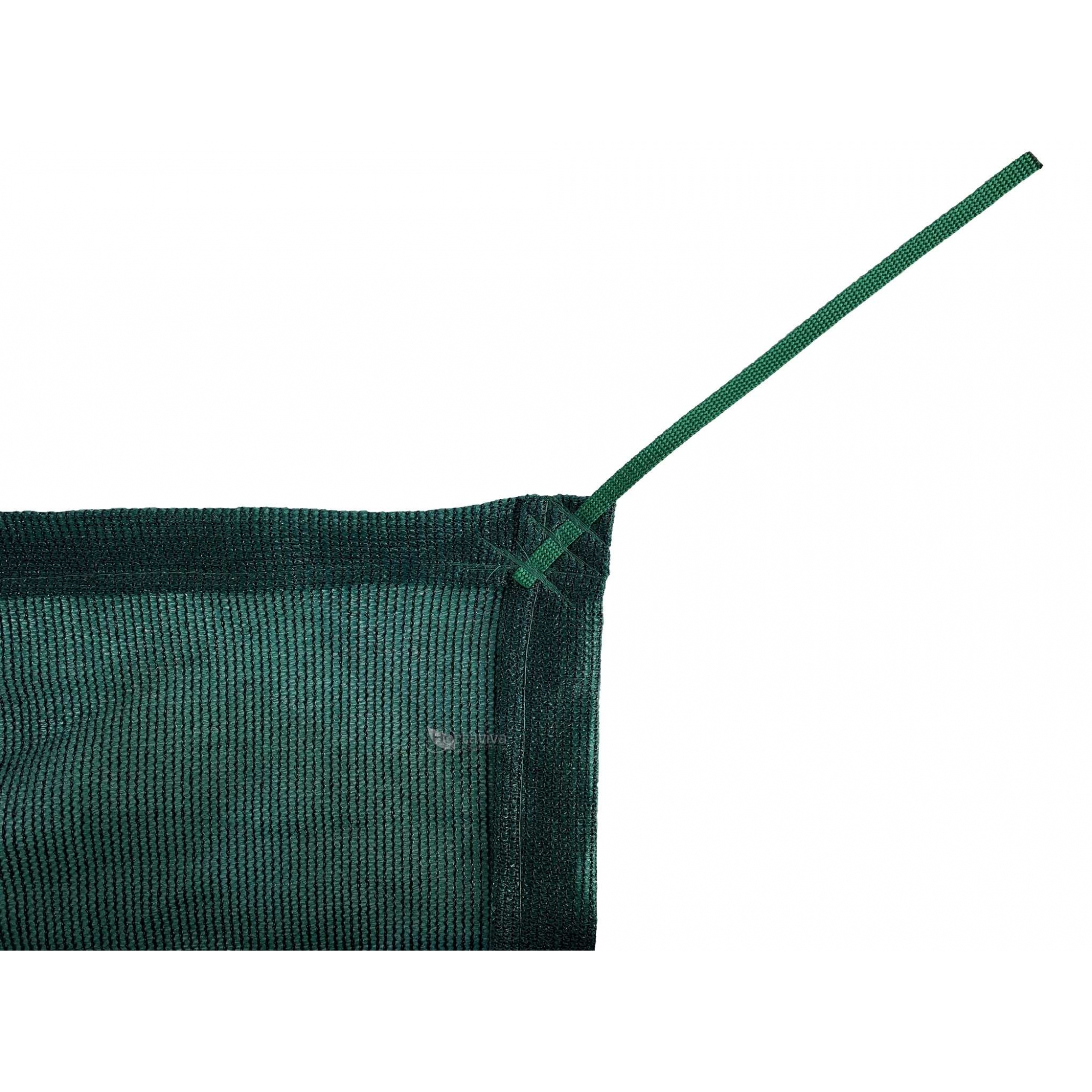 Tela de Sombreamento 80% Verde com Esticadores - Largura: 3 Metros