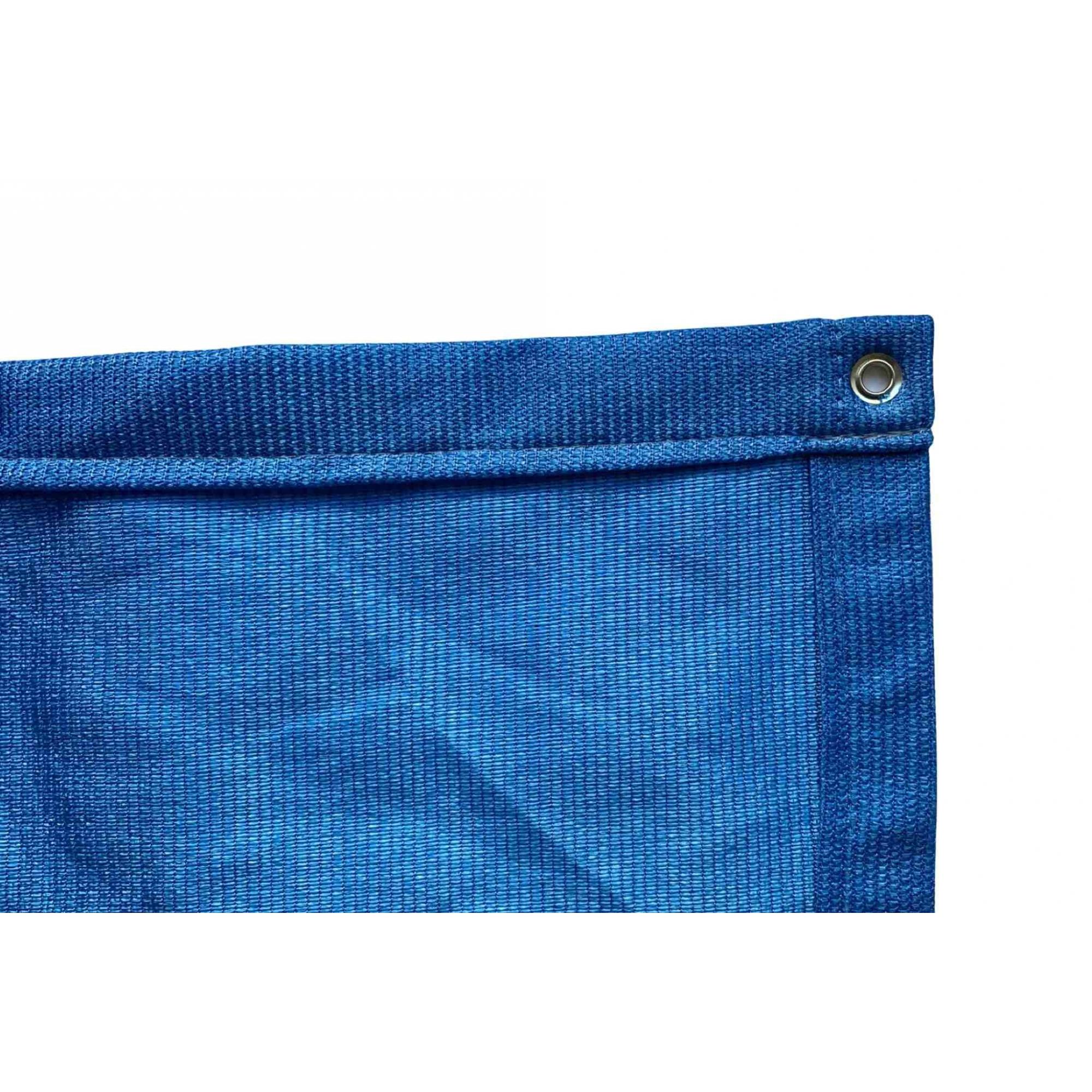 Tela de Sombreamento 90% Azul com Bainha e Ilhós - Largura: 3,5 Metros