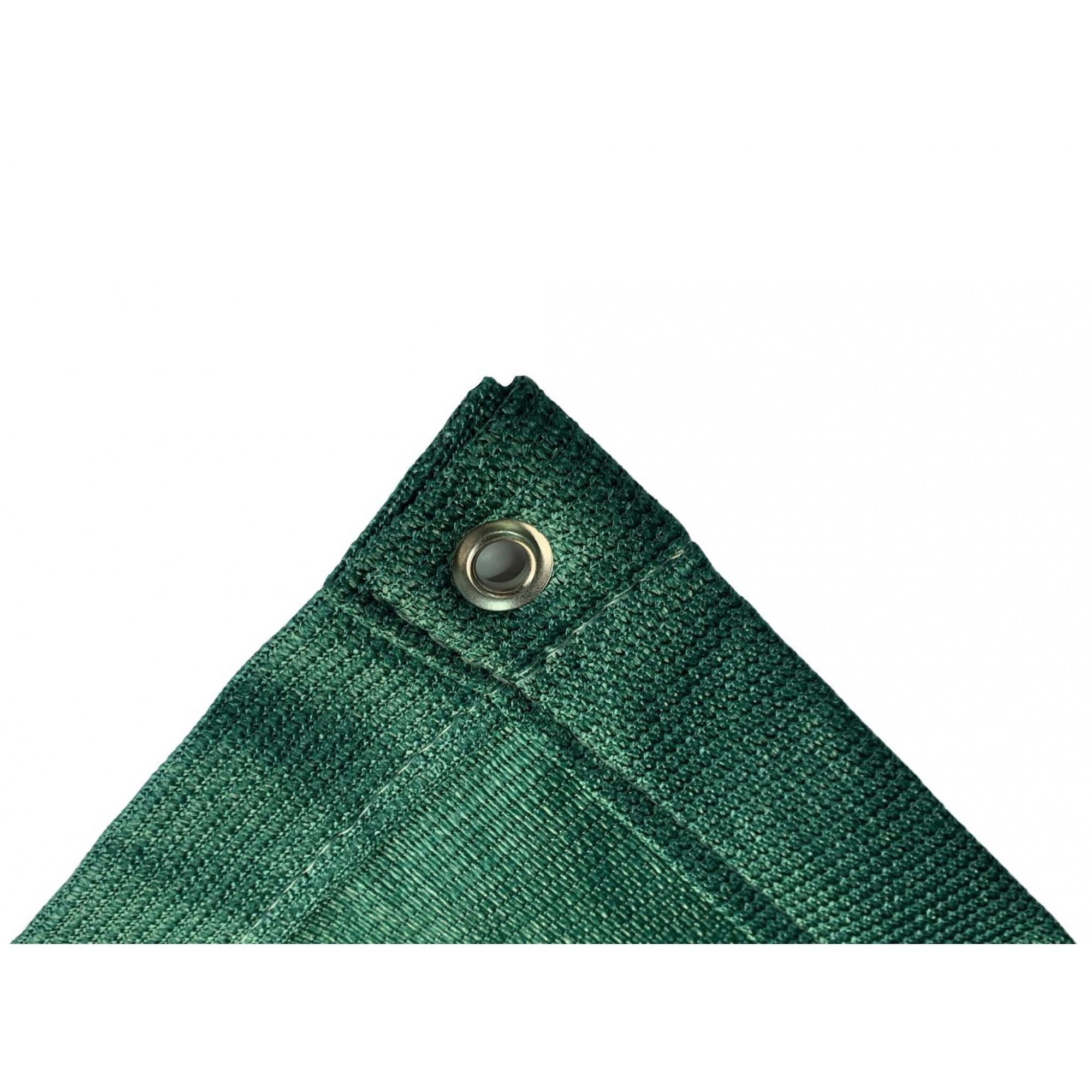 Tela de Sombreamento 90% Verde com Bainha e Ilhós - Largura: 5 Metros
