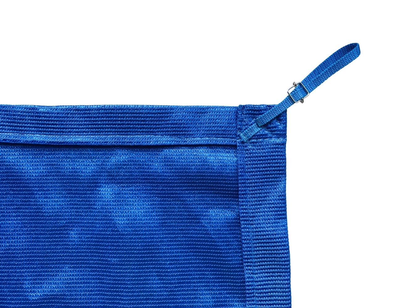 Tela de Sombreamento 90% Azul com Esticadores - Largura: 1,5 Metros