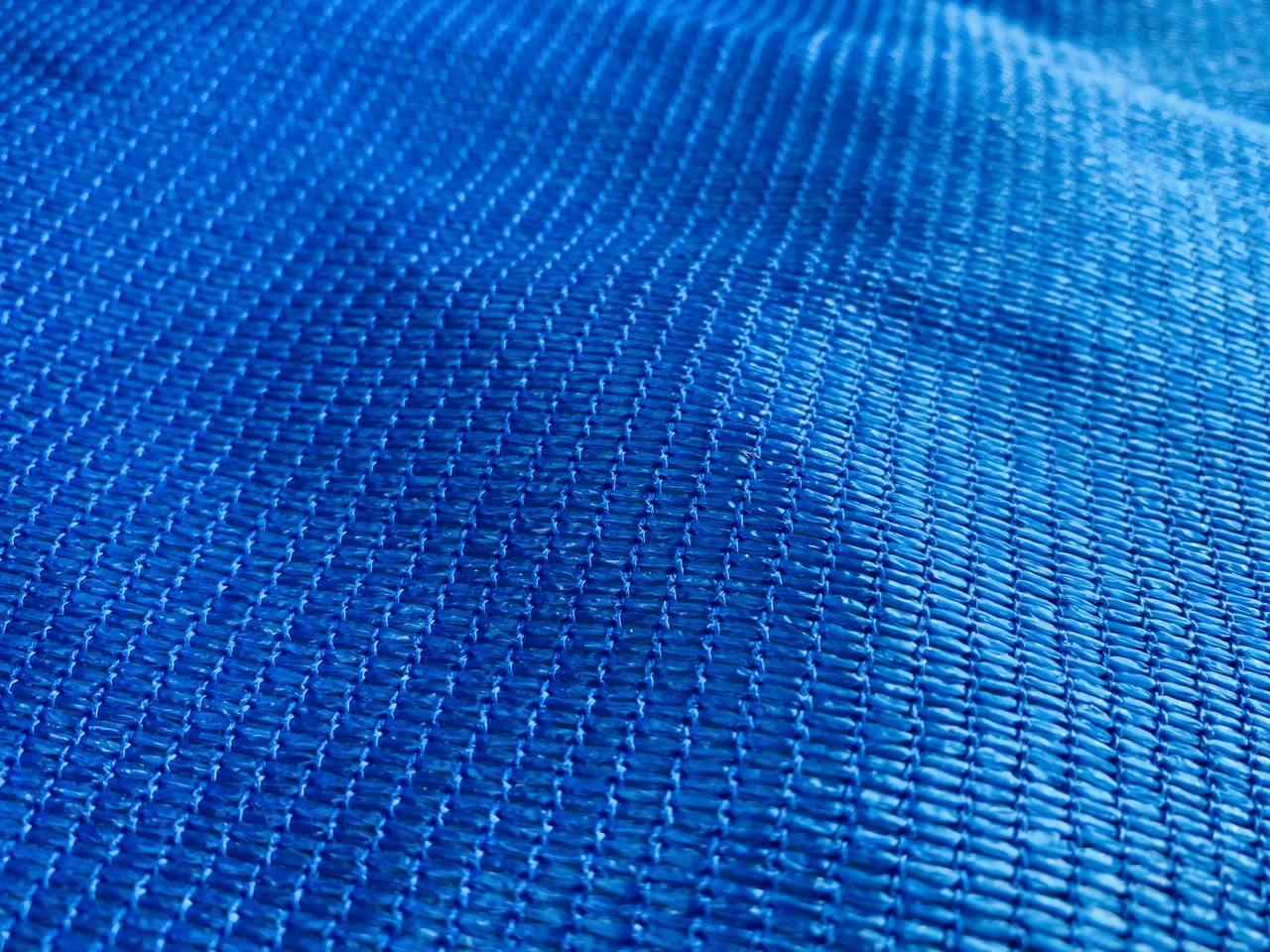 Tela de Sombreamento 90% Azul com Esticadores - Largura: 2,5 Metros