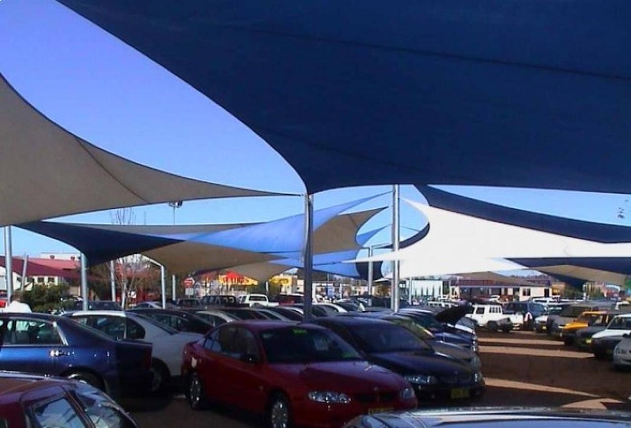 Tela de Sombreamento 90% Azul com Esticadores - Largura: 4 Metros