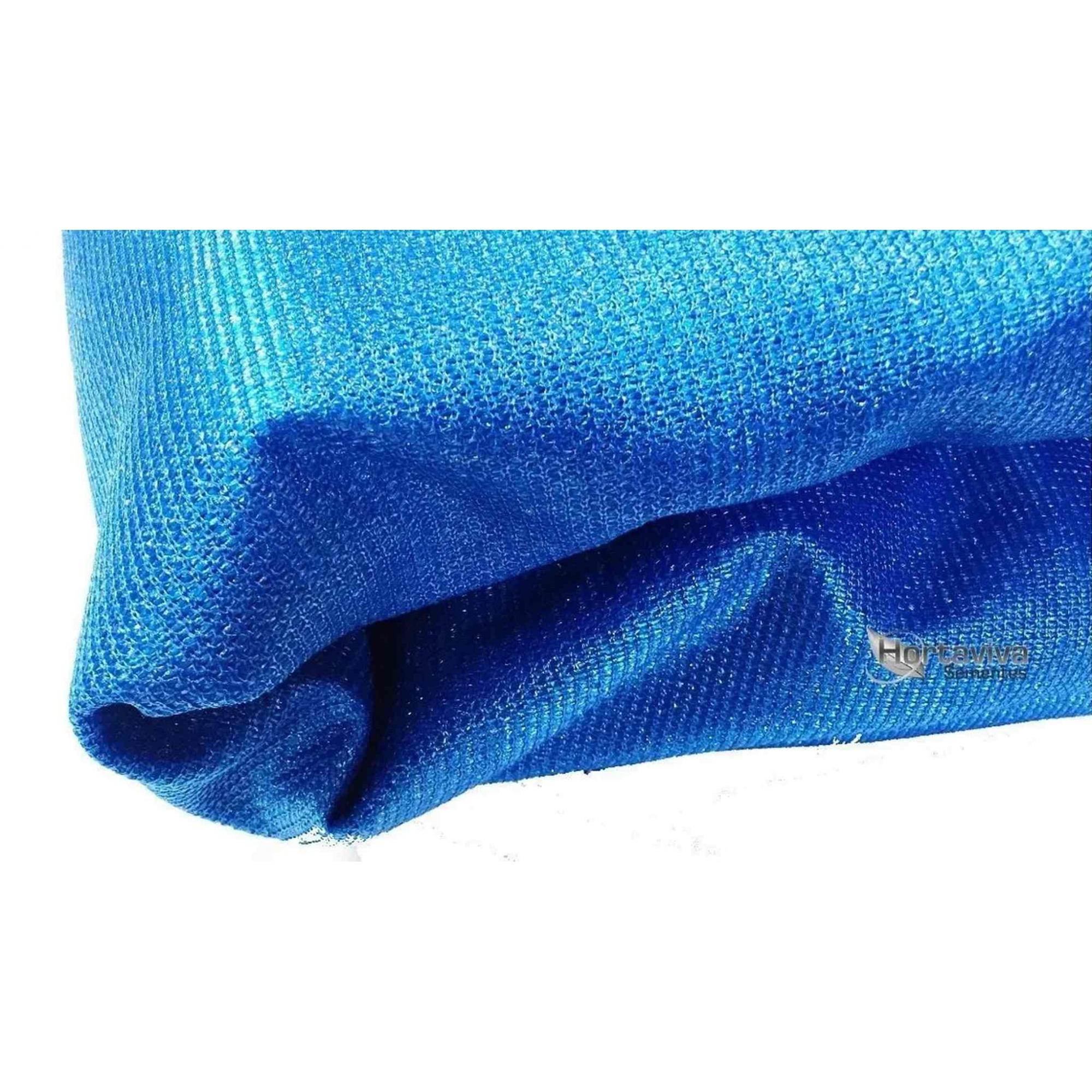 Tela De Sombreamento Decorativa Azul 90% - 4 Metros X 10 Metros