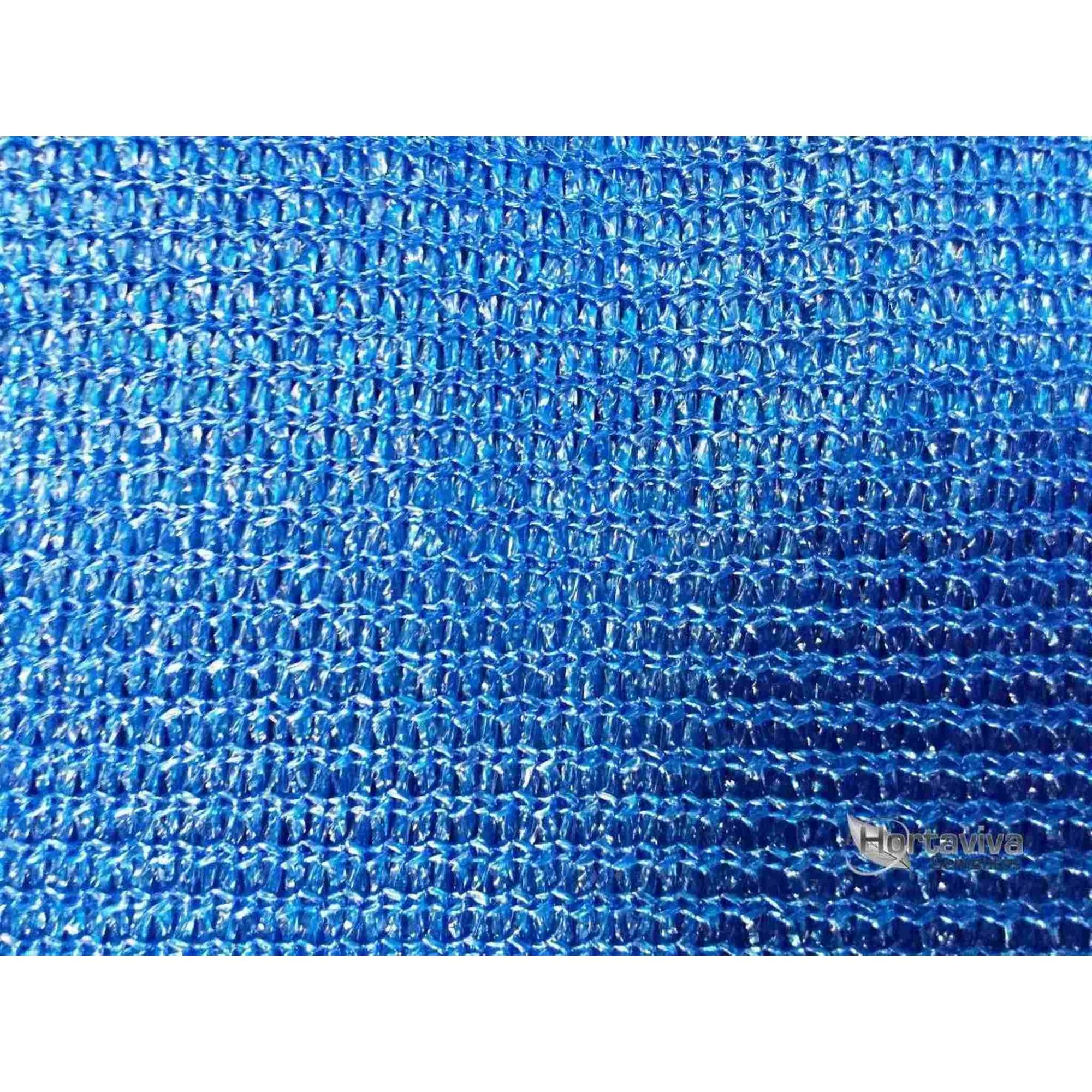 Tela De Sombreamento Decorativa Azul 90% - 4 Metros X 20 Metros