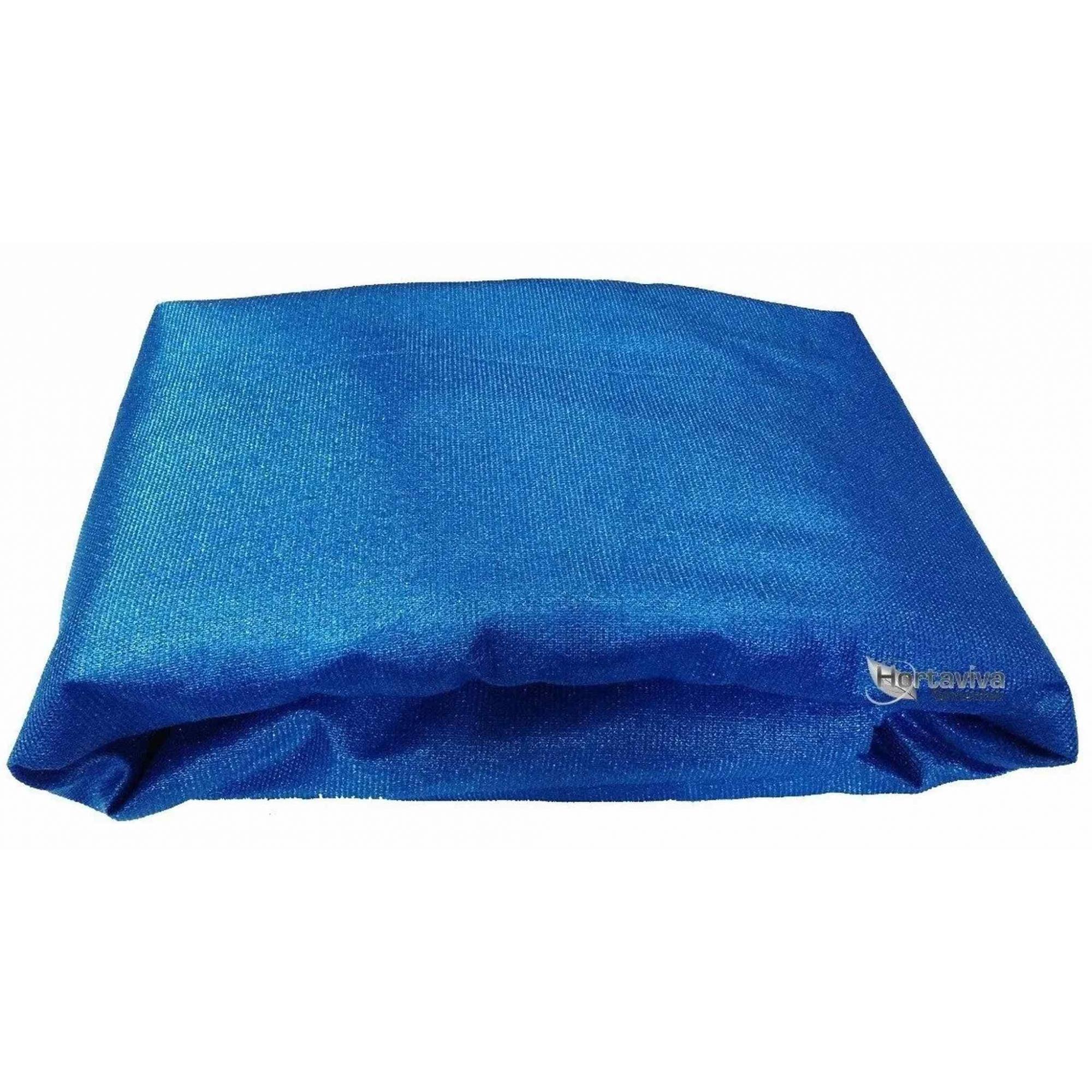 Tela De Sombreamento Decorativa Azul 90% - 4 Metros X 50 Metros