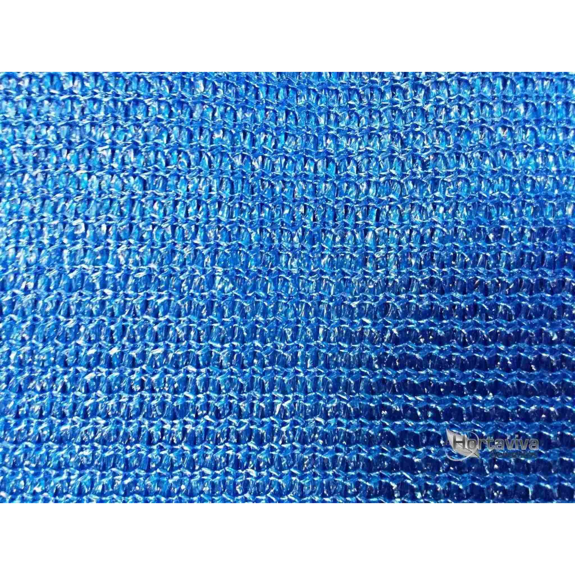 Tela De Sombreamento Decorativa Azul 90% - 5,2 Metros X 15 Metros