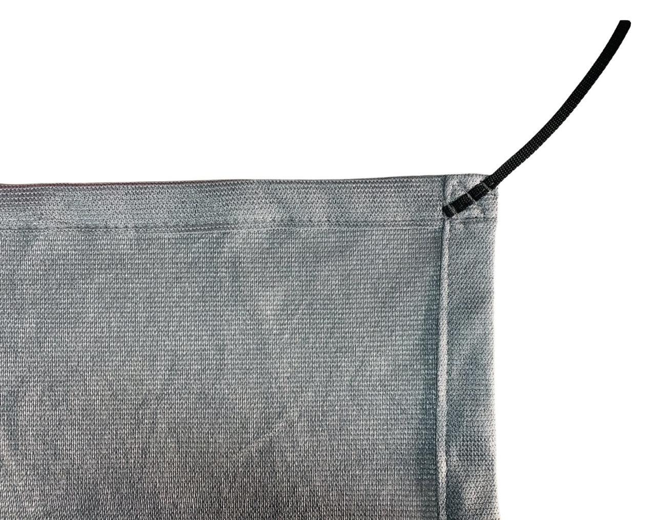 Tela de Sombreamento 90% Prata com Esticadores - Largura: 3,5 Metros