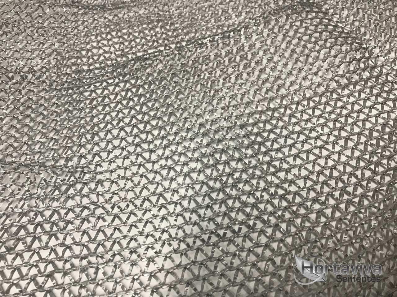 Tela de Sombreamento Prata Termo Refletora Freshnet 50% - Largura: 10 Metros