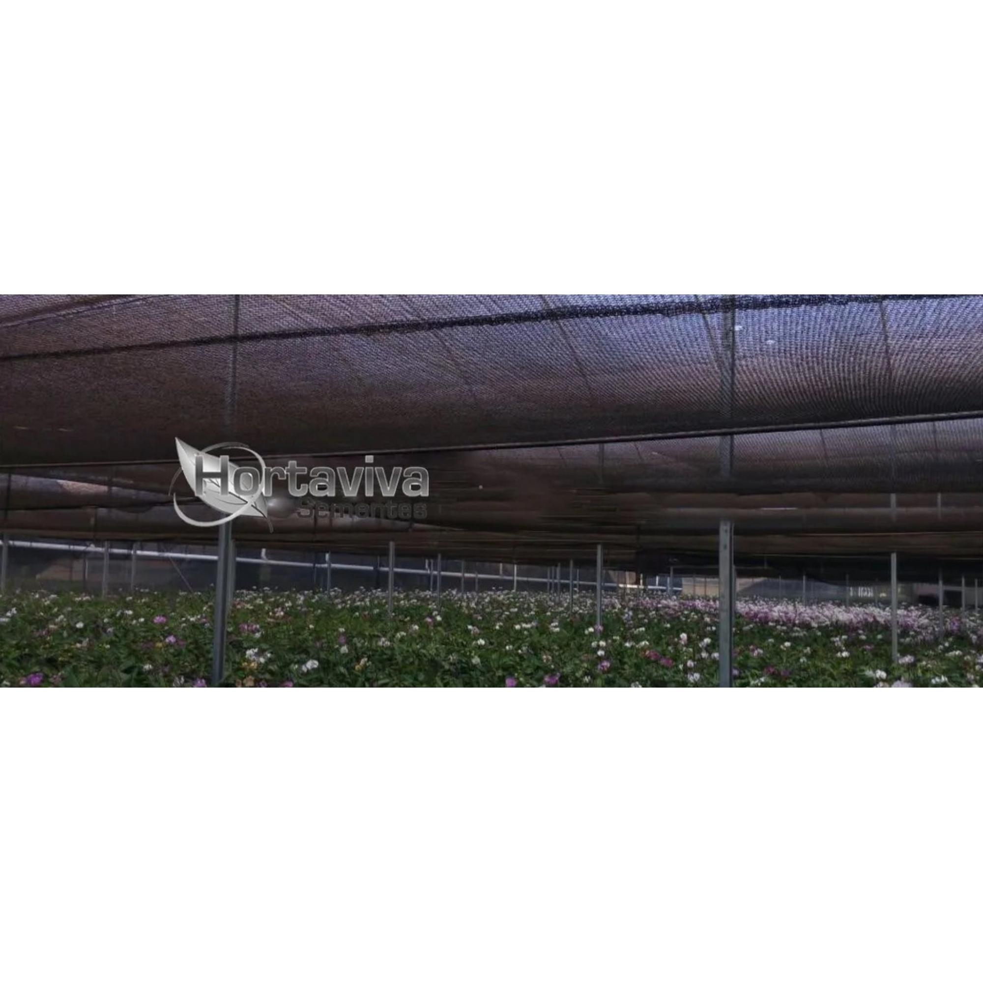 Tela de Sombreamento Preta 50% - 2 Metros x 10 Metros