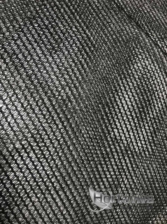 Tela de Sombreamento Preta 80% - 2 Metros x 25 Metros