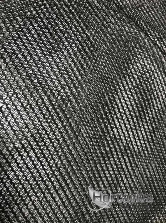 Tela de Sombreamento Preta 80% - 3 Metros x 25 Metros