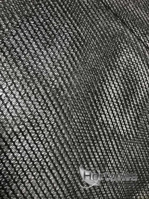 Tela de Sombreamento Preta 80% - 6 Metros x 10 Metros