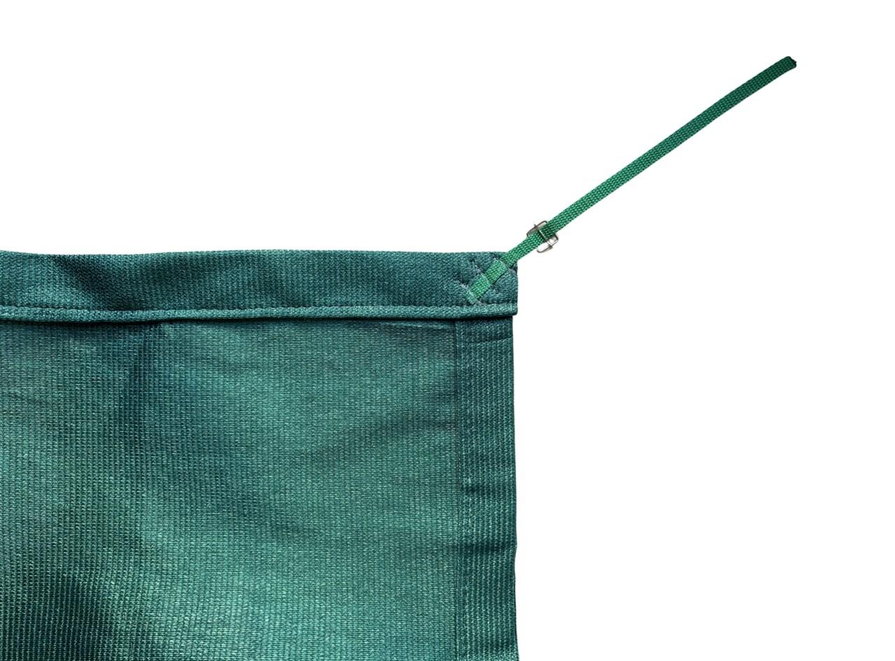 Tela de Sombreamento 90% Verde com Esticadores - Largura: 3,5 Metros