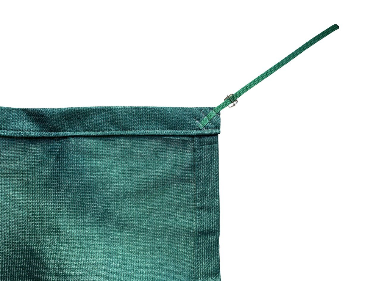 Tela de Sombreamento 90% Verde com Esticadores - Largura: 4 Metros