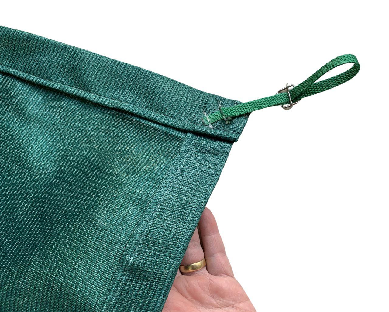 Tela de Sombreamento 90% Verde com Esticadores - Largura: 5 Metros