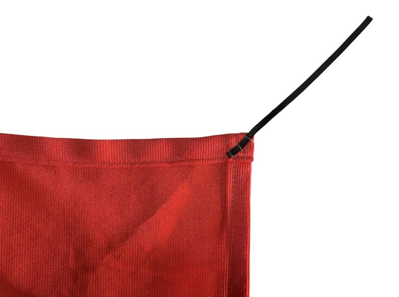 Tela de Sombreamento 90% Vermelha com Esticadores - Largura: 1,8 Metros