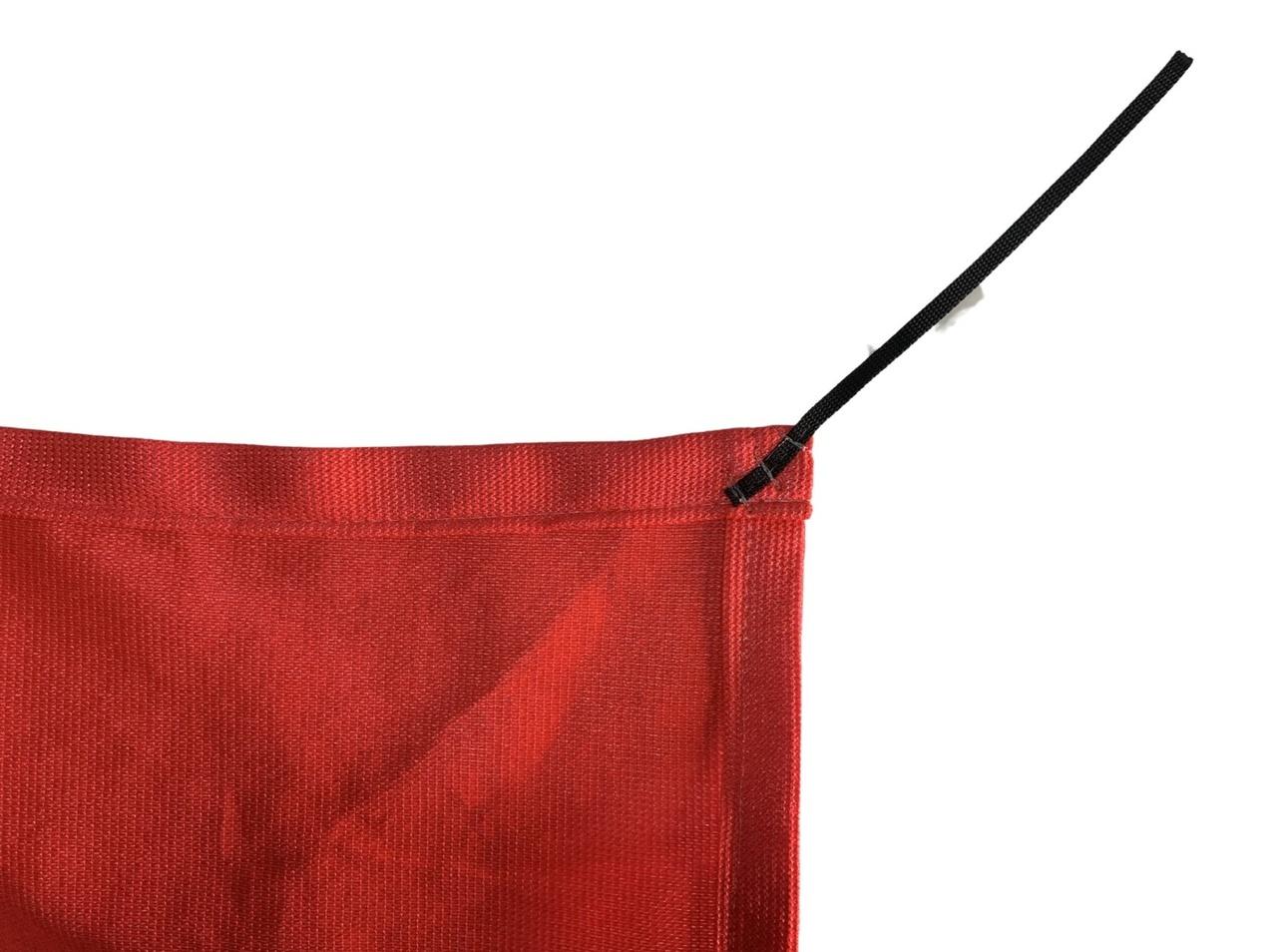 Tela de Sombreamento 90% Vermelha com Esticadores - Largura: 2,5 Metros