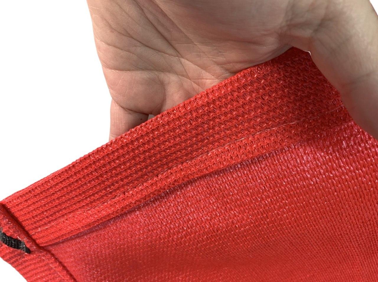 Tela de Sombreamento 90% Vermelha com Esticadores - Largura: 5 Metros