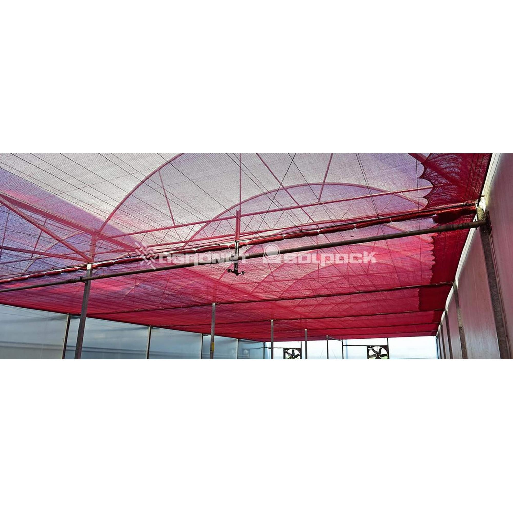 Tela de Sombreamento Vermelha Ultranet - Largura: 6 Metros