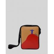 Bolsa Transversal Cross Bag Preta Marrom Nico