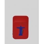 Carteira Mágica Masculina Slim Vermelha Lucas Cristo