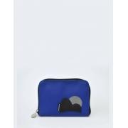 Carteira Zíper Azul Exclusiva P Ícones