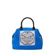 Mini Bolsa de Mão Azul Toalha Lory