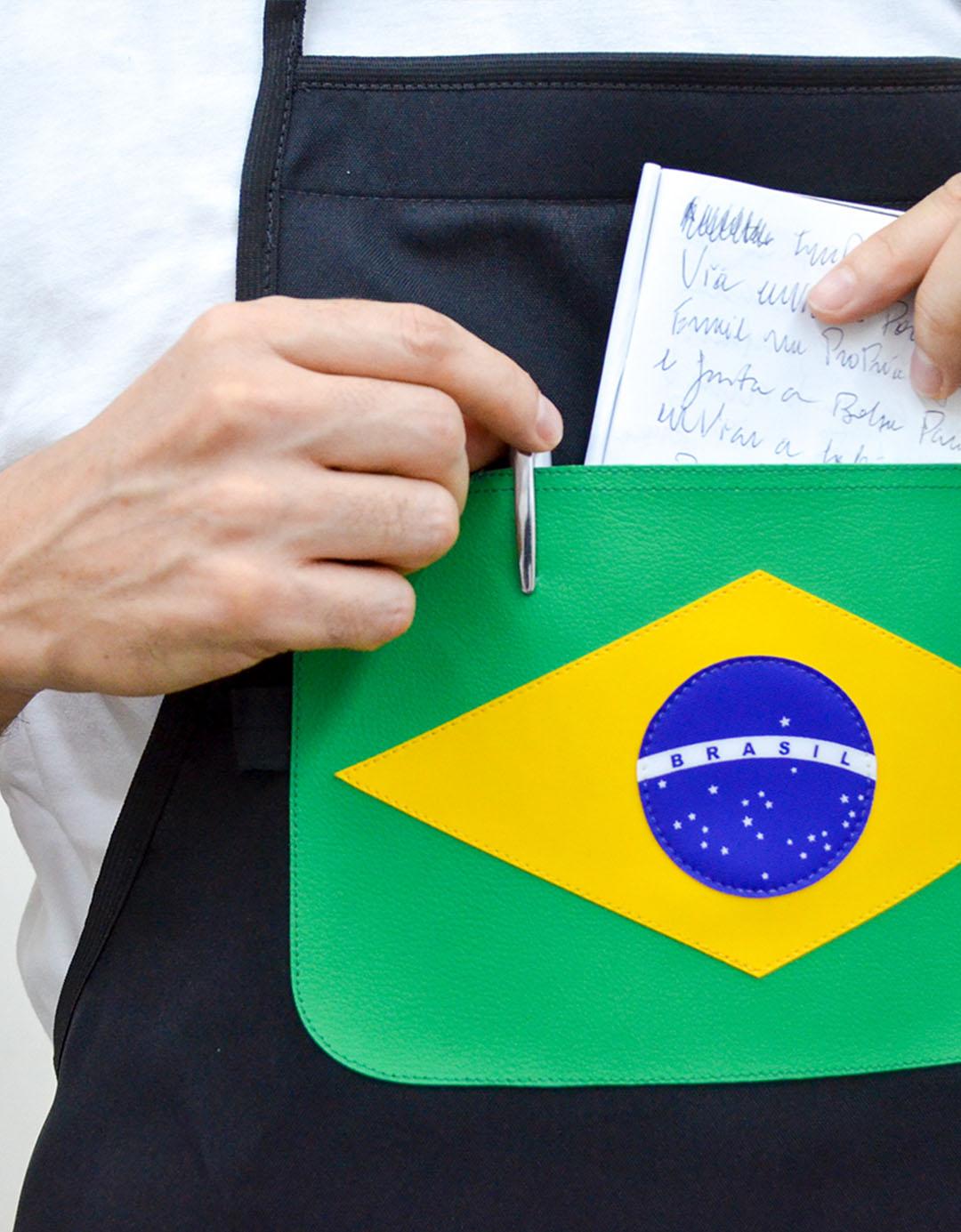 Avental Assinado Preto Gilson Home - Brasil