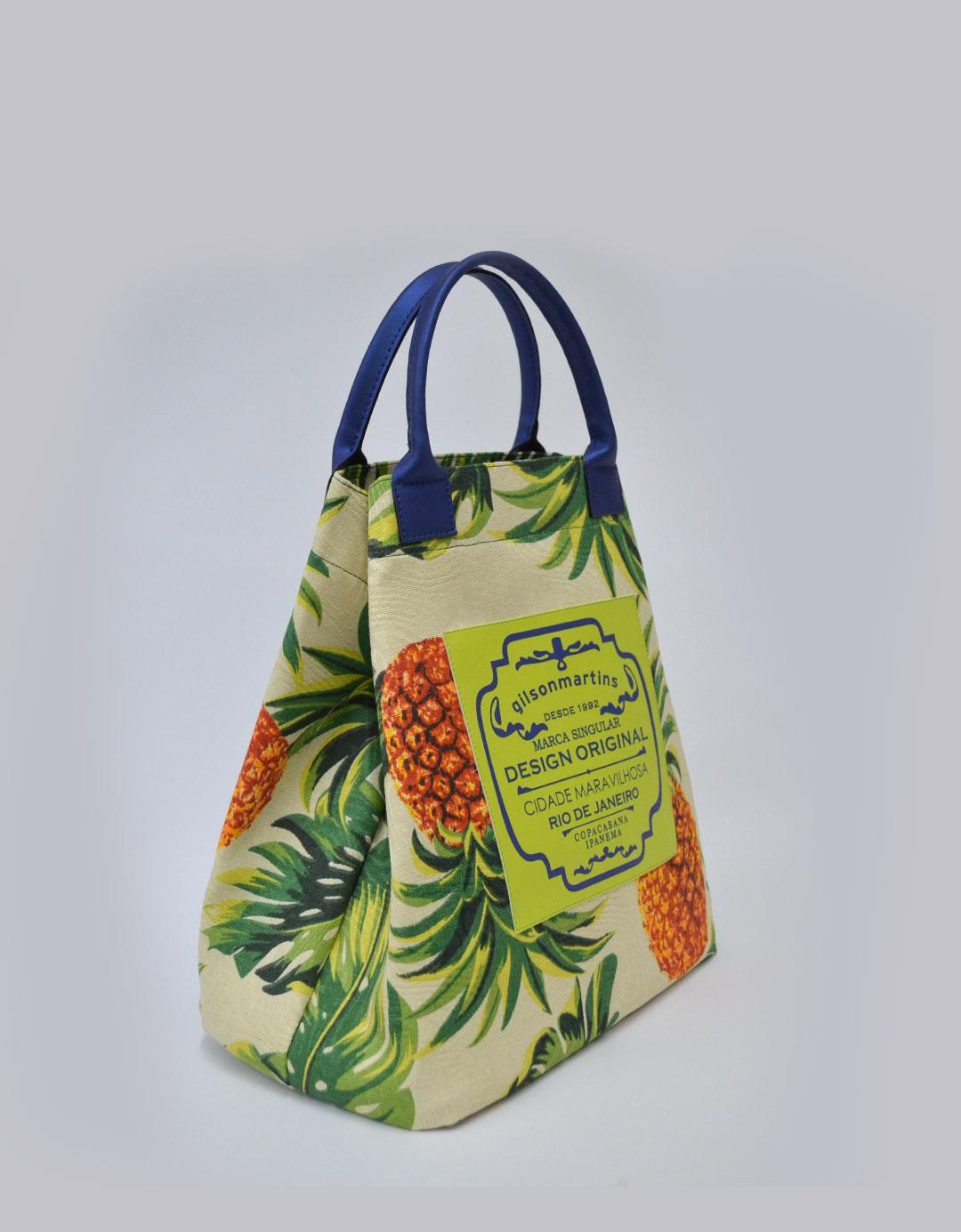 Bolsa Balde de Mão Abacaxi Fefa Plus