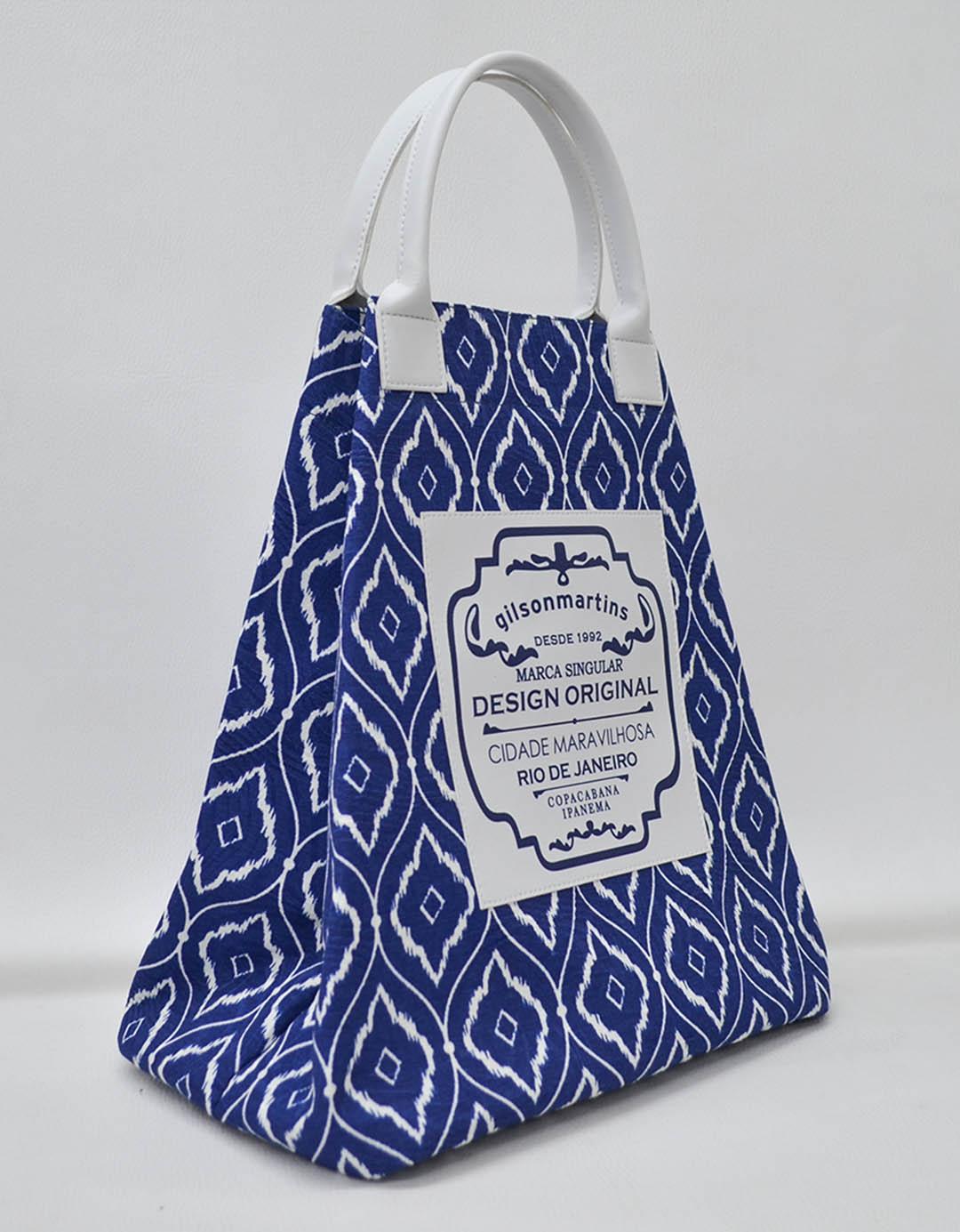Bolsa Balde de Mão Árabe Azul Fefa Plus
