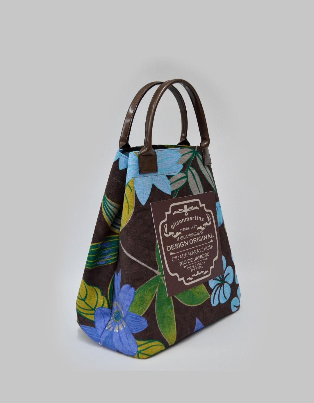 Bolsa Balde de Mão Floral Fefa Plus