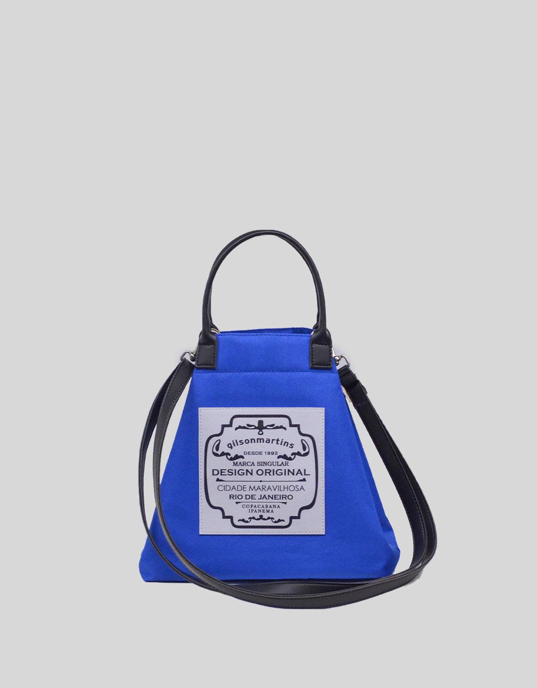 Bolsa Balde Tiracolo Azul Fefinha