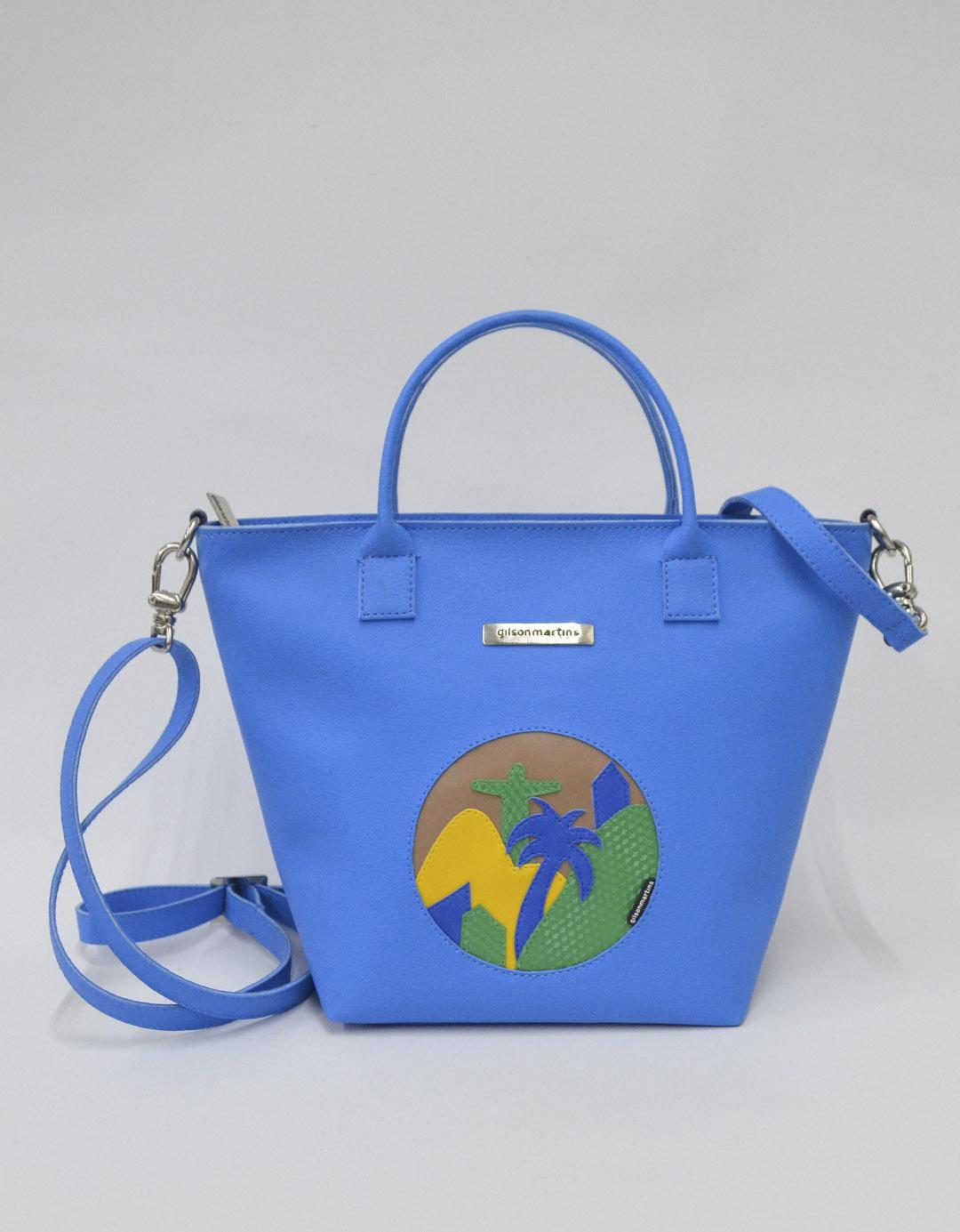 Bolsa Customizada Azul Exclusiva Bela Lixo Nobre