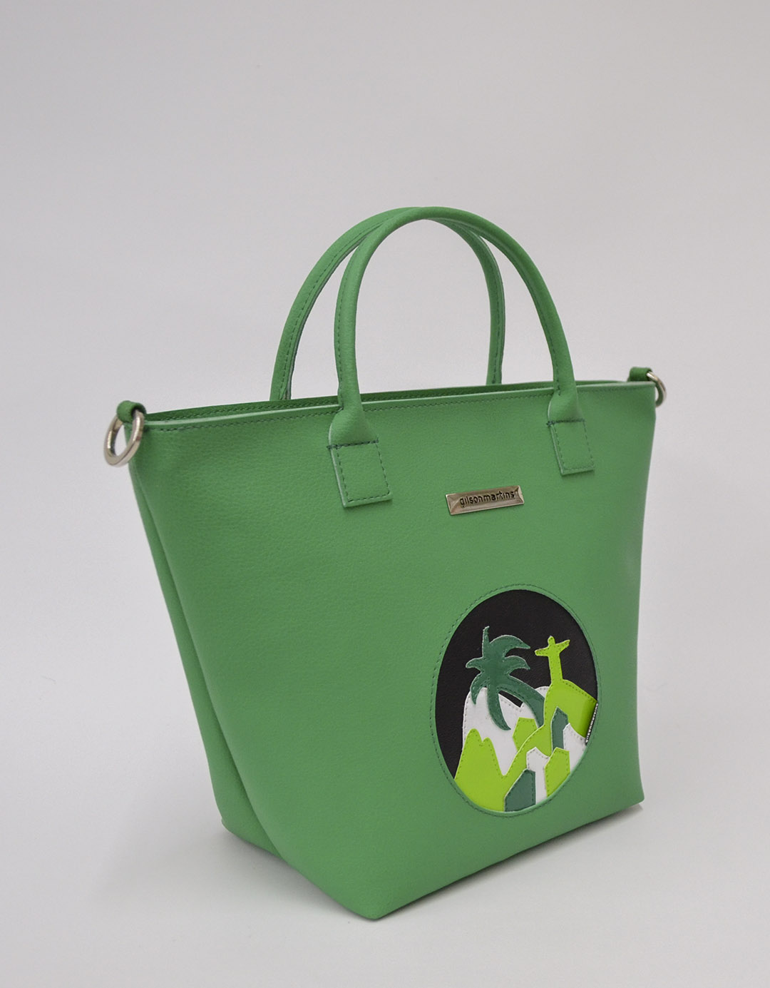 Bolsa Customizada Verde Exclusiva Bela Lixo Nobre